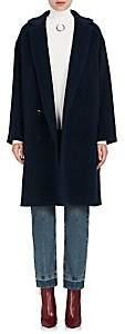 Pas De Calais Women's Angora-Wool Long Coat - Navy