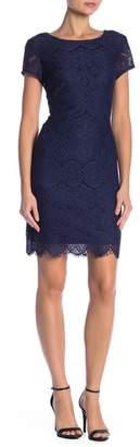 Laundry by Shelli Segal Scallop Trim Lace Dress