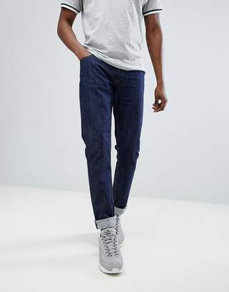 Love Moschino Skinny Jeans In Midwash Blue With Gold Badge