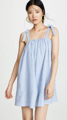 ENGLISH FACTORY Shirred Tied Dress