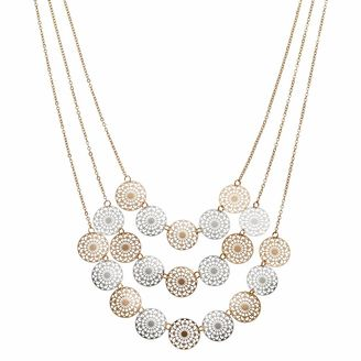 Apt. 9® Two Tone Openwork Disc Layered Necklace $22 thestylecure.com