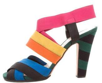 Prada S/S 2011 Rainbow Elastic Comfort Fit Open Toe Sandals Heels