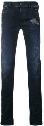 Diesel washed blue skinny jeans
