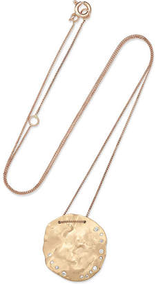 Pascale Monvoisin Izia 9-karat Yellow And Rose Gold Diamond Necklace