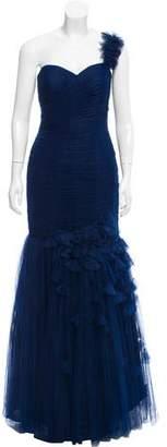 Jovani Mesh One-Shoulder Dress