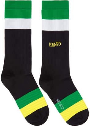 Kenzo Black Striped Socks