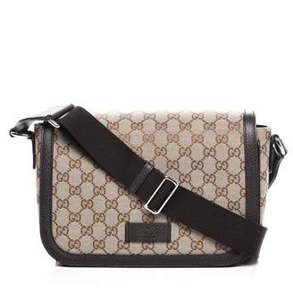 Gucci Messenger Crossbody Guccissima GG Adjustable Strap Brown/Beige