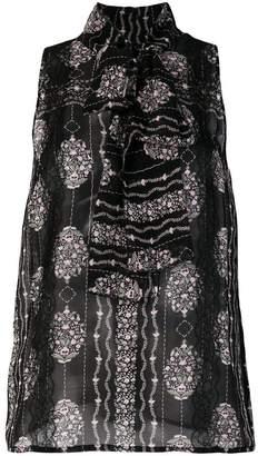 Giambattista Valli sleeveless floral blouse