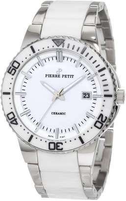 Pierre Petit Men's P-807B Serie Colmar Ceramic and Stainless-Steel Bracelet Watch