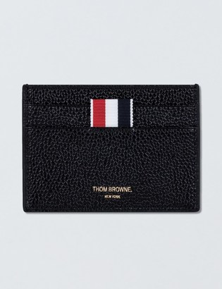 THOM BROWNE Pebble Grain Leather Single Card Holder $290 thestylecure.com