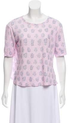 Rebecca Taylor Linen Printed T-Shirt