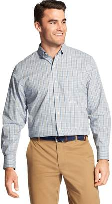 Izod Men's Premium Essentials Classic-Fit Plaid Stretch Button-Down Shirt