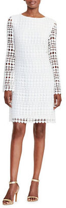 Lauren Ralph Lauren Geometric Lace Shift Dress $195 thestylecure.com