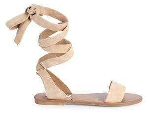 Steve Madden Reputation Leather Lace-Up Sandals
