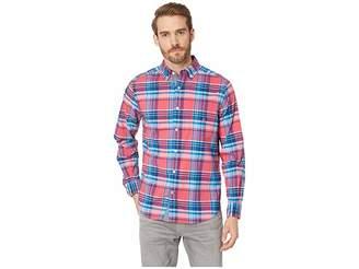 Nautica Long Sleeve Classic Fit Plaid Shirt