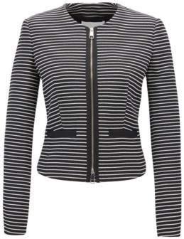 BOSS Hugo Regular-fit cropped jersey jacket stripes 2 Patterned