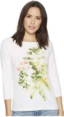 Tommy Bahama Queen Palms 3/4 Sleeve Tee Women's T Shirt