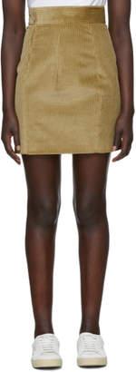 DSQUARED2 Beige Corduroy Miniskirt
