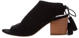 Loeffler Randall Suede Tassel Sandals