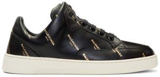 Balenciaga Black All Over Logo Sneakers