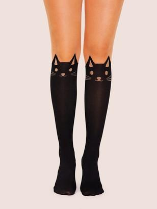 Shein Cat Pattern Knee Length Sock 1pair