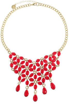 Liz Claiborne Red Statement Necklace