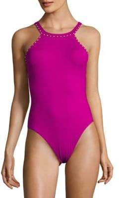 High Cut Hip One-Piece Swimsuit