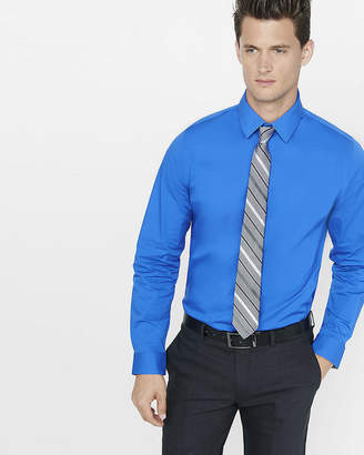 Express Fitted 1Mx Stretch Cotton Shirt