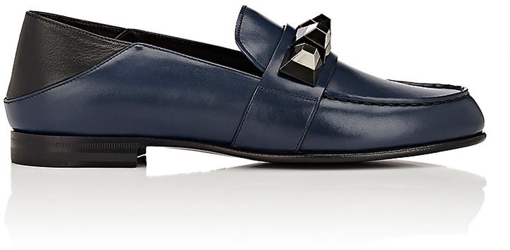 Fendi Women's Stud-Embellished Leather Loafers