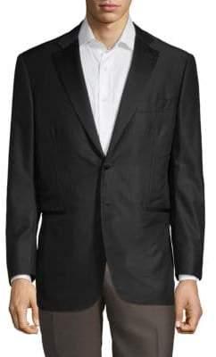Isaia Wool & Silk Pinstripe Blazer