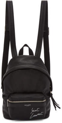 Saint Laurent Black Mini Leather City Backpack