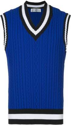 Education From Youngmachines ribbed contrast trim vest