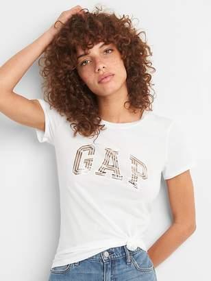 Gap Metallic Logo Short Sleeve Crewneck T-Shirt