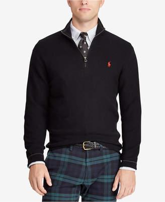 Polo Ralph Lauren Men's Cotton Half-Zip Classic Fit Sweater