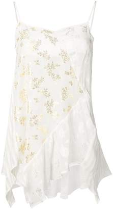 Semi-Couture Semicouture floral sleeveless top