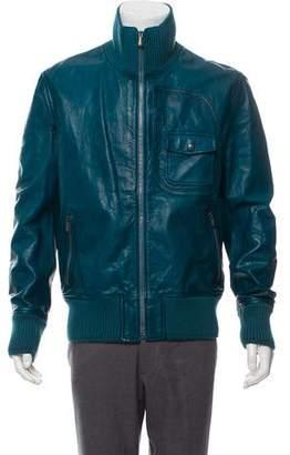 Bottega Veneta Leather Casual Jacket