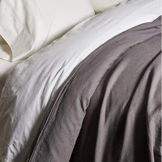 Matteo Washed Linen Duvet Cover - Coal