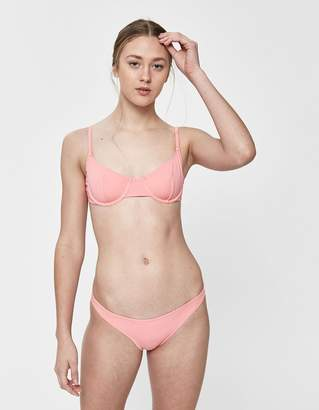 Solid & Striped Eva Swim Top in Flamingo Pink