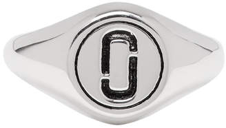 Marc Jacobs Silver Double J Signet Ring