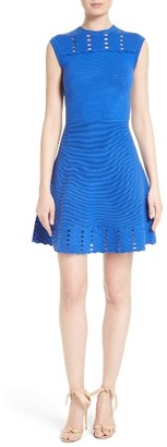Women's Ted Baker London Zaralie Jacquard Panel Skater Dress $279 thestylecure.com