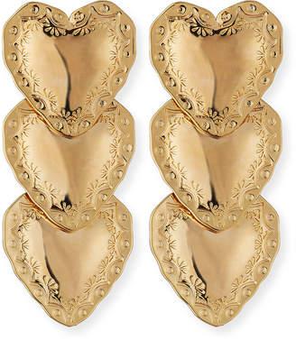 Fallon Heart Drop Earrings, Gold