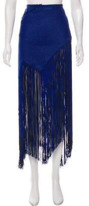 Proenza Schouler Fringe-Accented Patterned Skirt