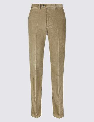Marks and Spencer Regular Fit Corduroy Trousers with Stretch