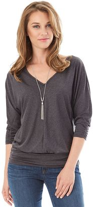Women's Apt. 9 3/4-Sleeve Banded Bottom Top $40 thestylecure.com