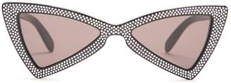 Jerry embellished bow-tie shaped sunglasses