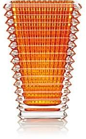 Baccarat Eye Crystal Small Rectangular Vase-Amber