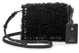 Steve Madden Logo Faux Fur Crossbody Bag