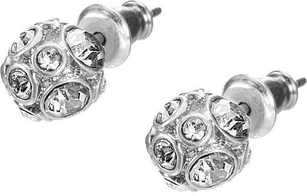 Fossil Silver Toned Bling Stud Earrings