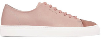 Axel Arigato - Metallic-trimmed Leather Sneakers - Pink $210 thestylecure.com