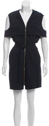 Balenciaga Zip-Up Mini Dress